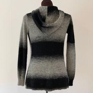 Cynthia Rowley wool blend hooded cardigan xs